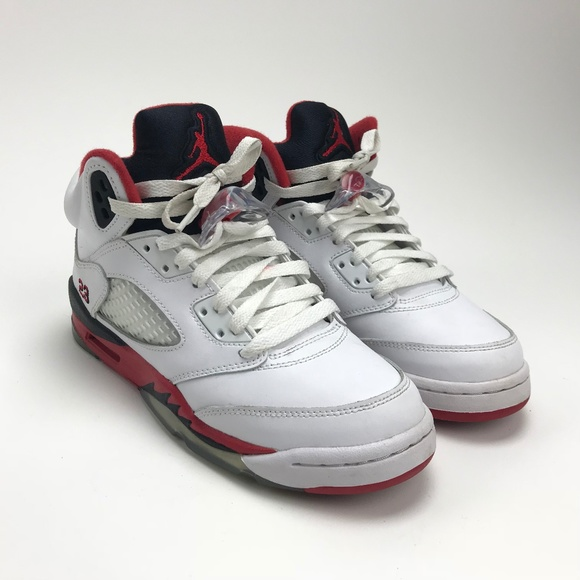 ab016320a7ca Nike Shoes | Air Jordan Retro 5v Fire Red 440888 120 Sz 5y | Poshmark